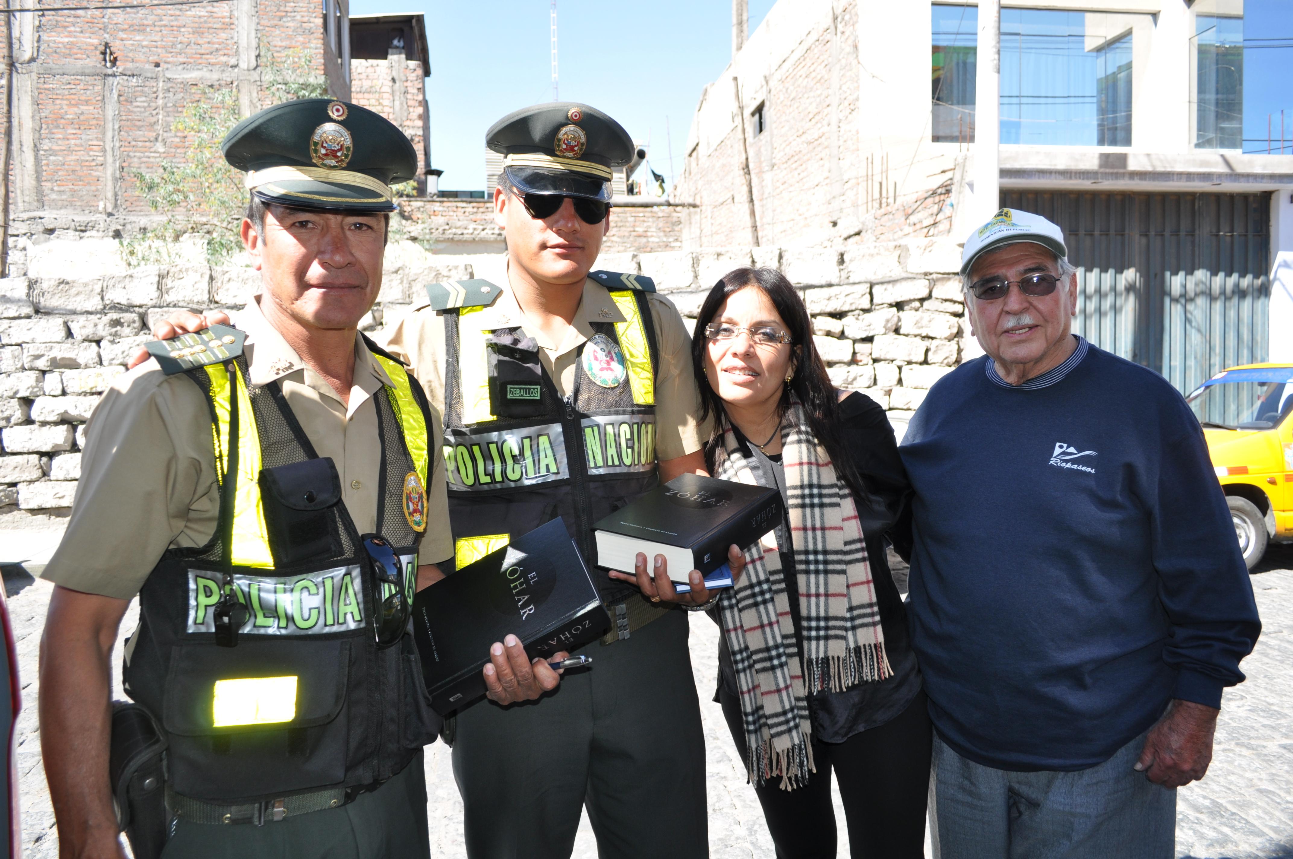 Venezuelan policemen receiving Sacred Zohars