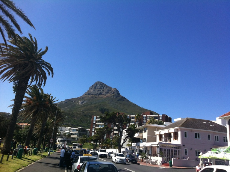 View of the iconic Lion's Head in Cape Town