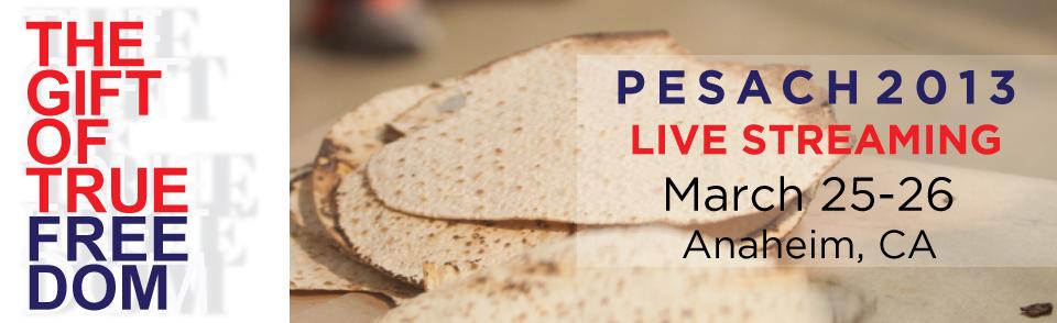 Pesach Live Stream