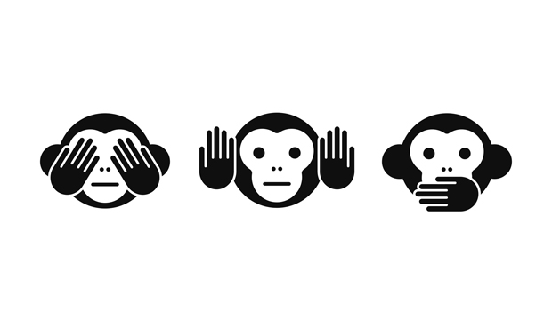 Three Wise Little Monkeys