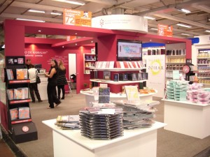 The Kabbalah Centre booth at the Bogota Book Fair